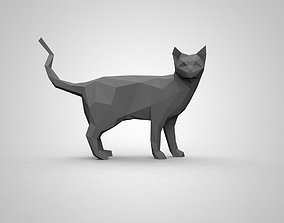 low poly cat 3D print model
