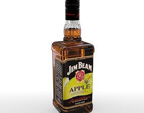 3D model Jim Beam Apple 70cl Bottle