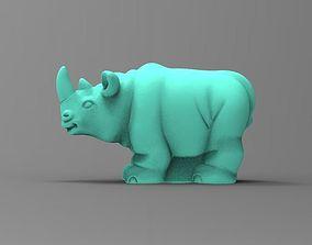 3d rhinoceros 3D print model