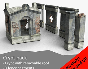 Crypt pack 3D asset