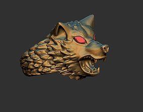 ringsheadwolf ring wolf 3D print model