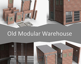 3D asset Old Modular Warehouse