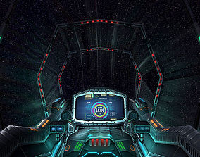 3DRT - Sci-Fi Spacecraft Cockpit 7 VR / AR ready