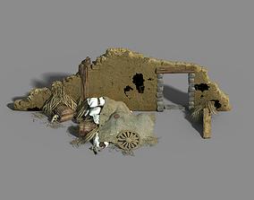 Game Monster Camp - Broken Earth Wall Cottage 8 3D model