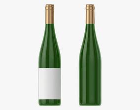 Wine bottle mockup 10 3D