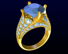 3D printable model DIAMOND JEWELLERY silver sapphire