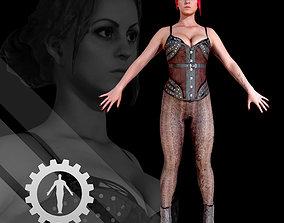 3D asset Female Scan Sonya -Rigged