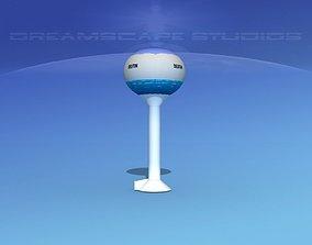 3D Modern Water Tower