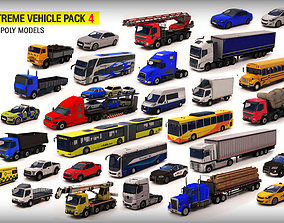 3D model VR / AR ready Vehicle Pack 4