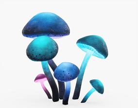 Glowing Mushrooms 3D model