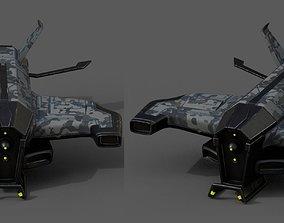 3D model Spaceship starship scifi space futuristic 2
