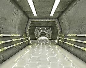 animated Sci Fi Modes Corridor 3D model