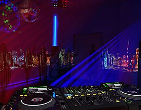 Night Club Equipments Collection 3D