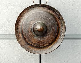 19th Century Laos Bronze Gong 5 3D model