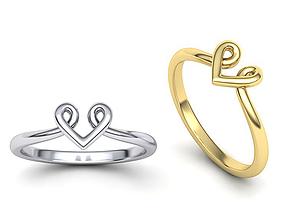 Heart Baby design ring 3dmodel