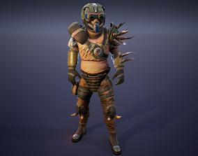 Marauder hunter 3D asset rigged