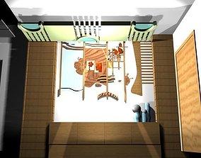 Wooden Wall Decoration 3D asset