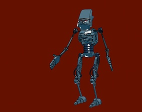 3D model animated realtime Robot futuristic