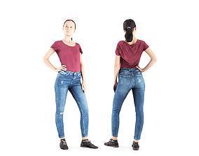 Woman casual 04 3D model