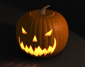 Jack-o-lantern 3D pumpkin thresher