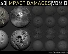 3D model Zbrush - Impact Damages VDM Brush
