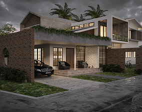 Modern House exterior contemporary 3D