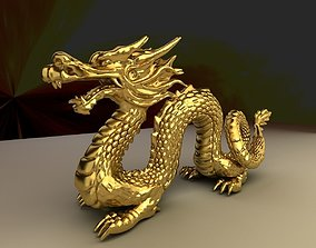 Chinese dragon 3D asset game-ready