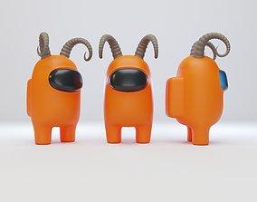 Among Us Ram Horns Character 3D model