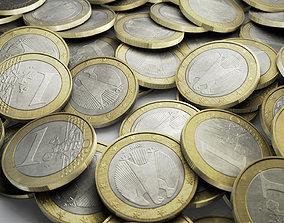 3D asset 1 Euro Coin
