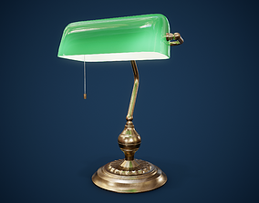 3D model Bankers Lamp PBR Game Ready