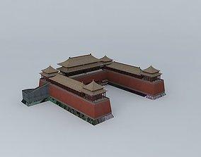 3D Beijing Forbidden City Meridian Gate