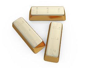 gold bar bullion 3D
