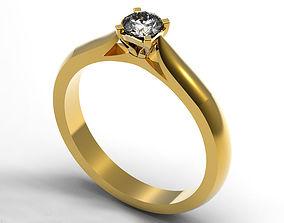 Engagement Ring 3D print model rings