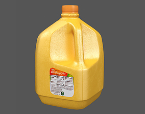 Orange Juice Gallon Bottle 3D model game-ready