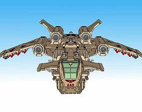 3D printable model 6mm Birdstorm Superheavy Dropship