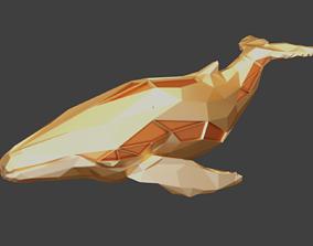 3D printable model Polygonal Humpback Whale Parametric