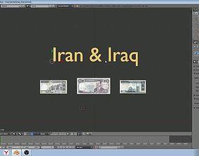 3D Iran and Iraq - paper - money models