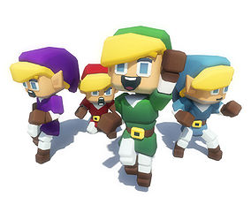 Elf Hero Character - Smashy Craft Series 3D asset