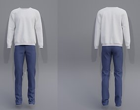 3D Male outfit - sweatshirt and jeans