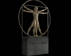 Vitruvian Man By Leonardo Da Vinci 3D model