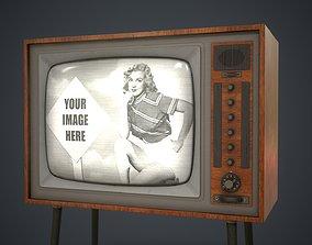 Vintage TV HD 3D model VR / AR ready