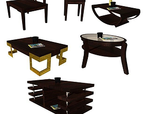 3D Coffee Table Set 1 game-ready