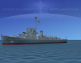 Destroyer DE-219 USS Douglas Blackwood 3D model