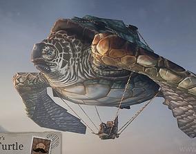 3D model Flying Turtle