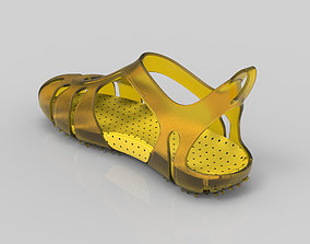 a model sandal