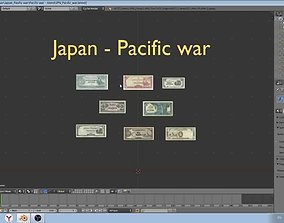 VR / AR ready Military paper-money models of Japan