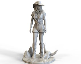 3D printable model Westen Girl Sculpture