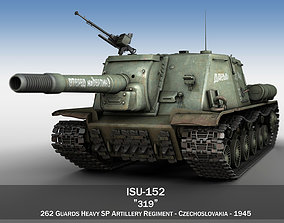 ISU-152 - 319 - Soviet heavy self-propelled gun 3D