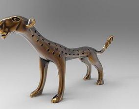 African cat statuette 3D printable model