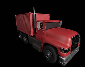 Truck and container 3D